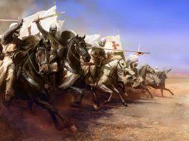 Carga de caballería templaria