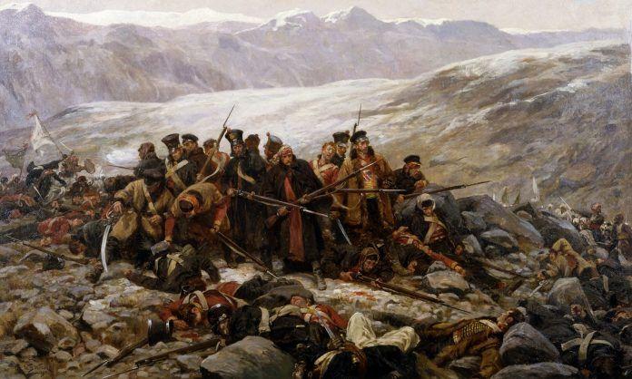 "William Barnes Wollen, ""The Last Stand of the 44th Regiment at Gundamuck, (1898) Chelmsford Museum, Essex."