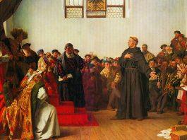 Martín Lutero en la Dieta de Worms, por Alexander von Wermer, 1877.