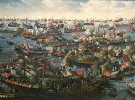Recreación de la Batalla de Lepanto